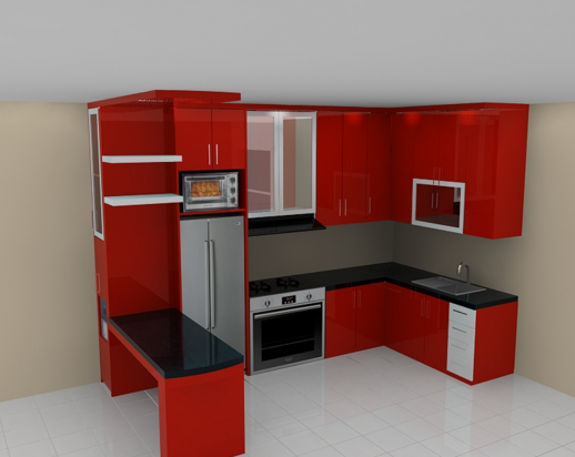 Model kitchen set minimalis kontraktor jogja jasa for Dapur set aluminium
